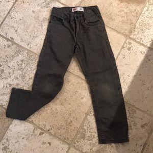 Boys adjustable waist Levi's 511 slim gray jeans-6